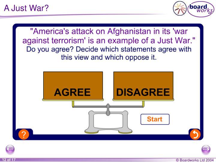 A Just War?