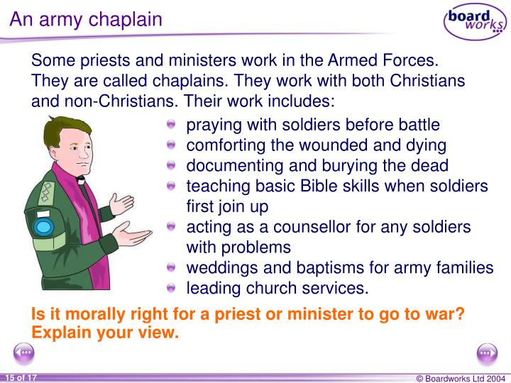 An army chaplain
