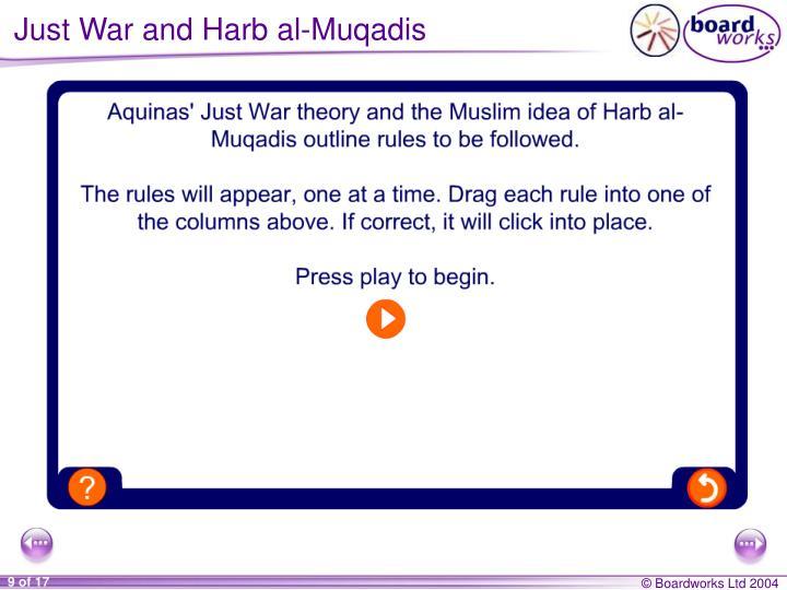 Just War and Harb al-Muqadis
