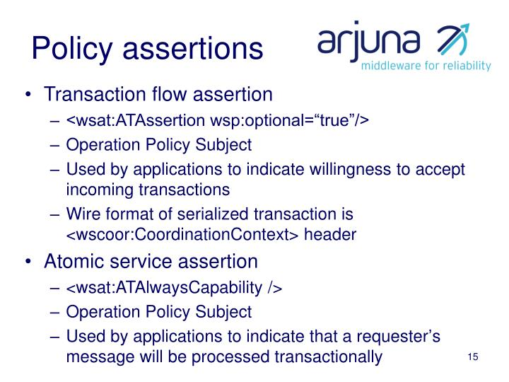 Policy assertions