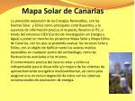mapa solar de canarias