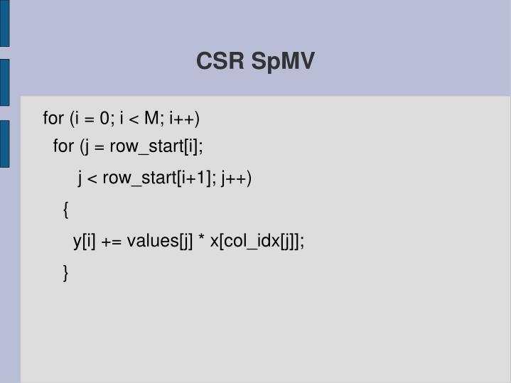 CSR SpMV