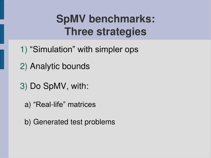 SpMV benchmarks: