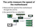 the units measure the speed of the motherboard