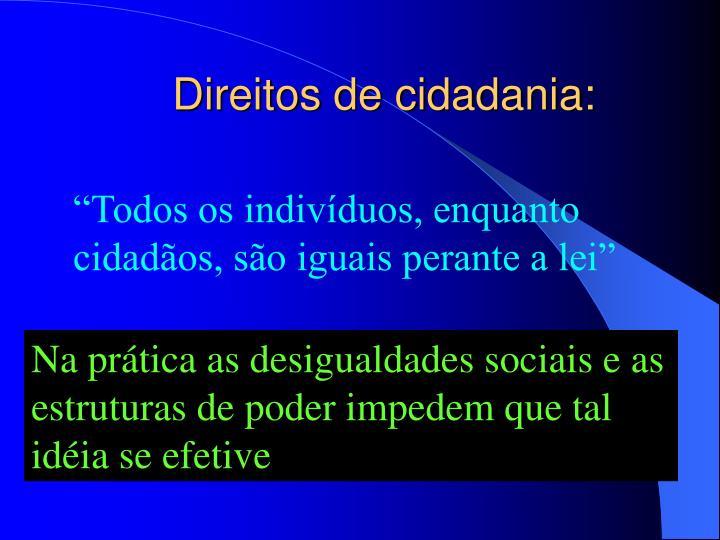Direitos de cidadania: