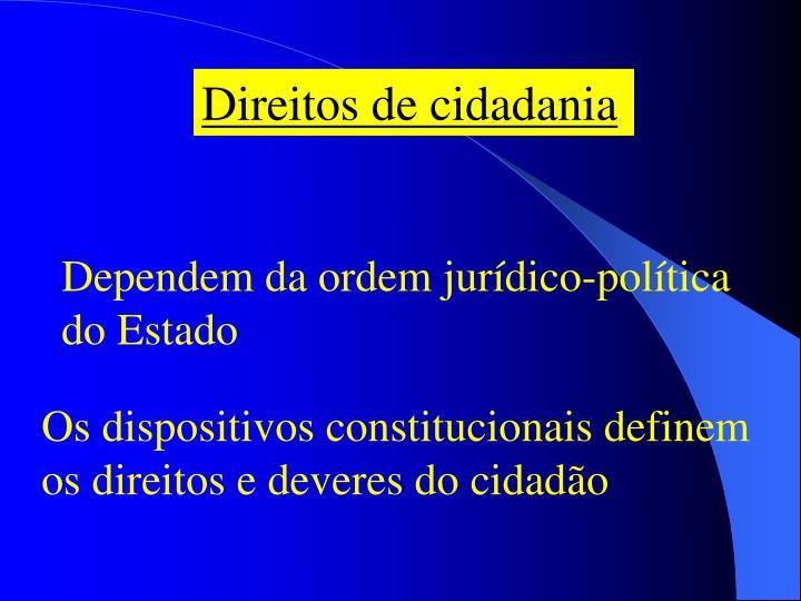 Direitos de cidadania