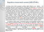 republica aristocratic roman 509 27 hr