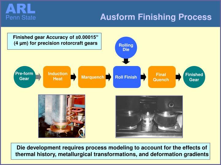 Ausform Finishing Process