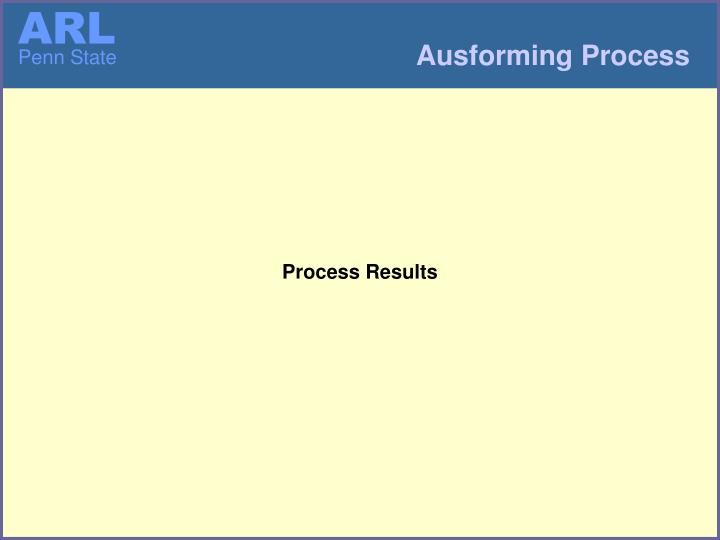 Process Results