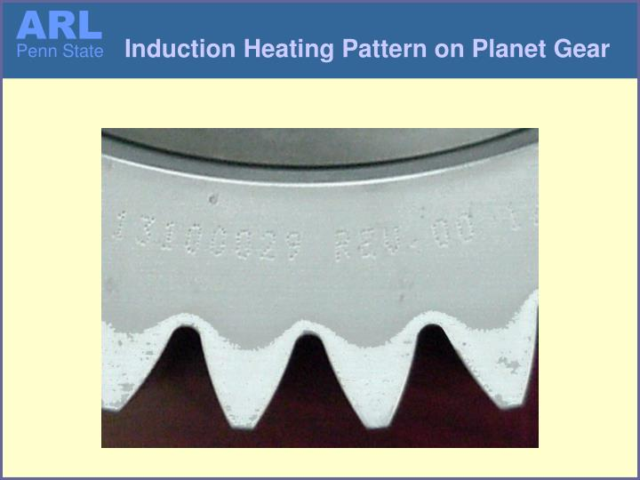 Induction Heating Pattern on Planet Gear