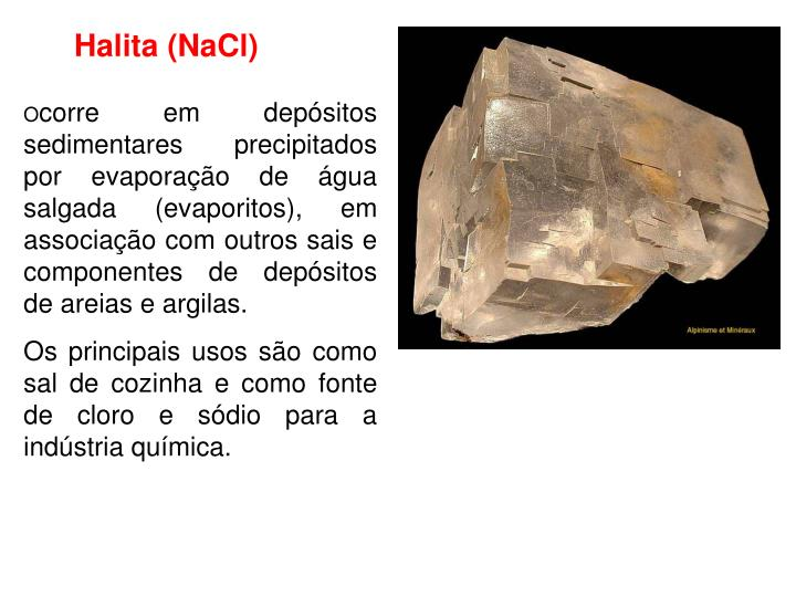 Halita (NaCl)