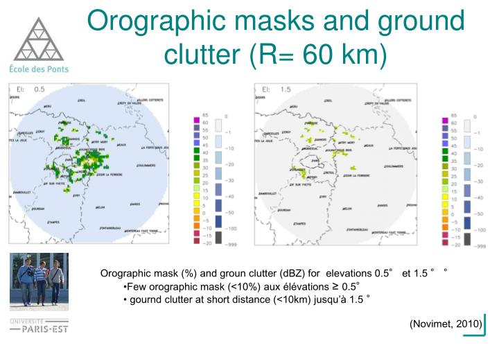 Orographic masks and ground clutter (R= 60 km)