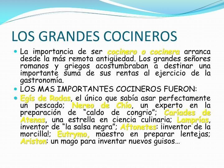 LOS GRANDES COCINEROS
