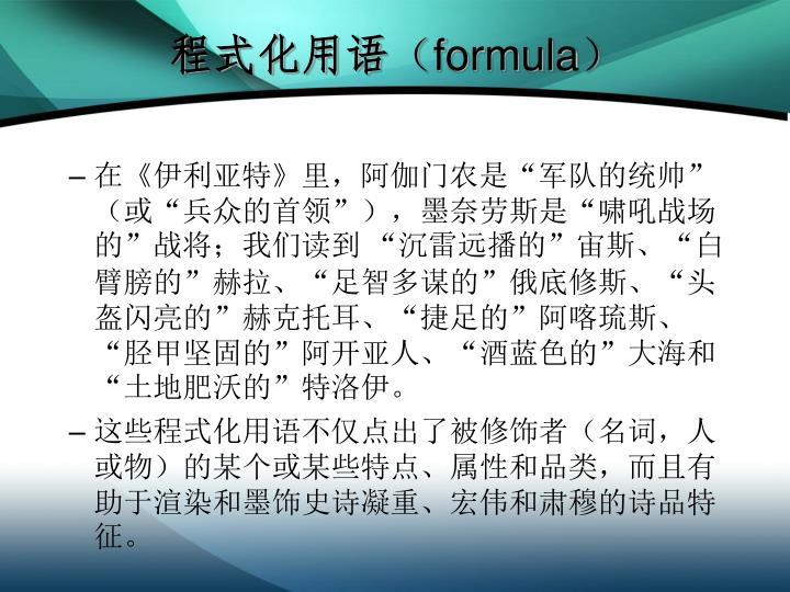 程式化用语