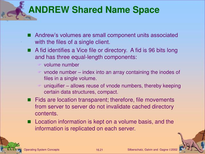 ANDREW Shared Name Space