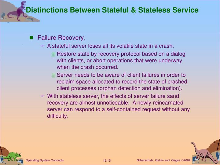 Distinctions Between Stateful & Stateless Service
