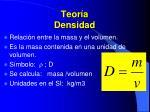 teor a densidad