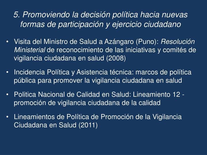 Visita del Ministro de Salud a Azángaro (Puno):