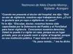 testimonio de nilda chambi monroy vigilante azangaro