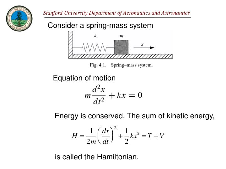 Consider a spring-mass system