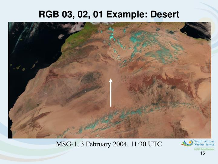 RGB 03, 02, 01 Example: Desert
