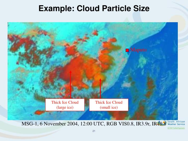 Example: Cloud Particle Size