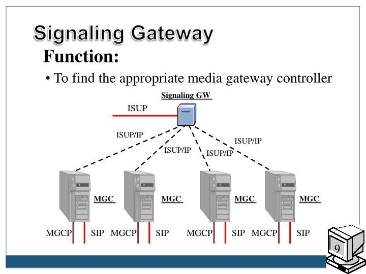 Signaling Gateway