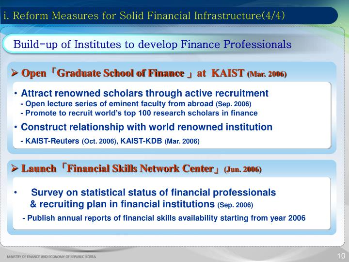 i. Reform Measures for Solid Financial Infrastructure(4/4)