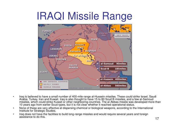 IRAQI Missile Range