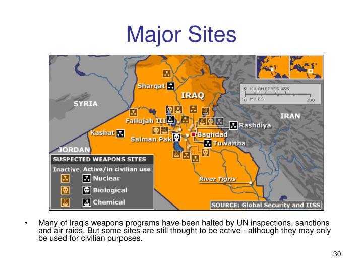 Major Sites