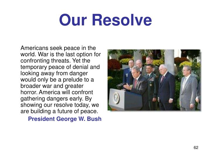 Our Resolve