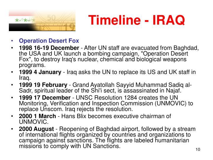 Timeline - IRAQ