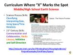 curriculum where x marks the spot middle high school earth science