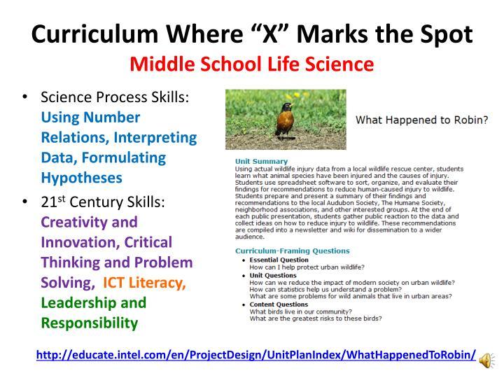"Curriculum Where ""X"" Marks the Spot"