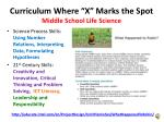 curriculum where x marks the spot middle school life science