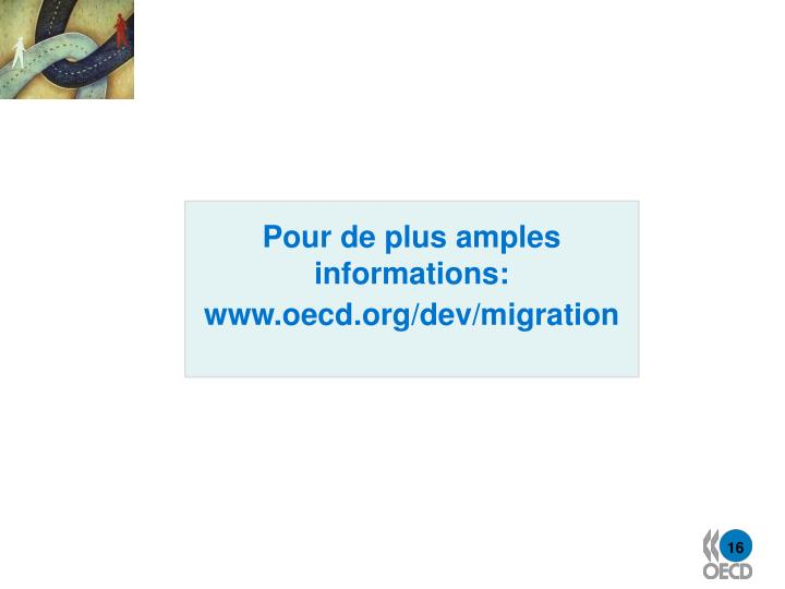 Pour de plus amples informations: www.oecd.org/dev/migration