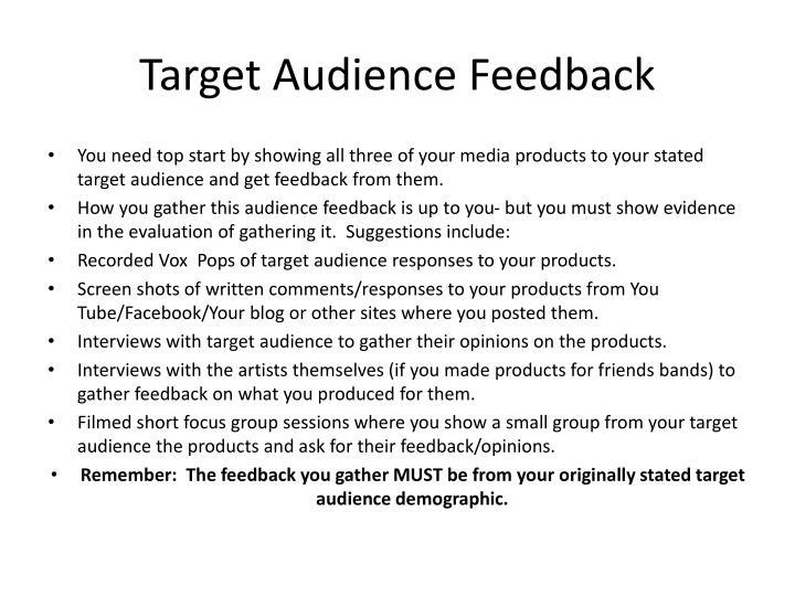 Target Audience Feedback