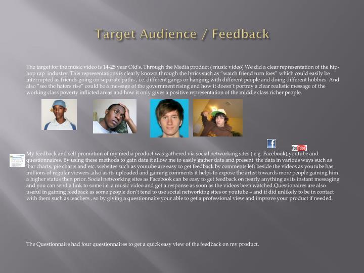 Target Audience / Feedback