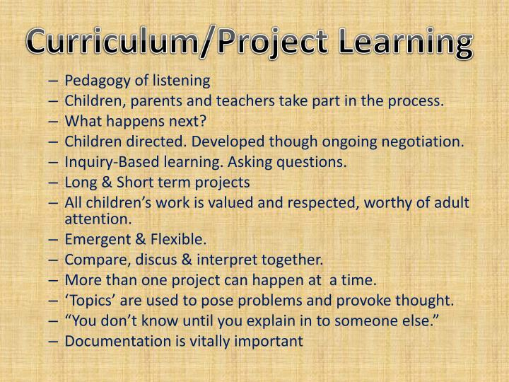 Curriculum/Project Learning
