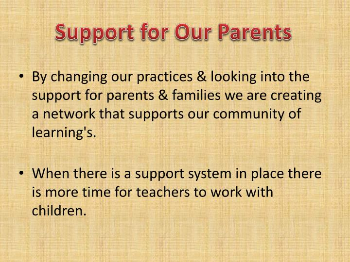 Support for Our Parents