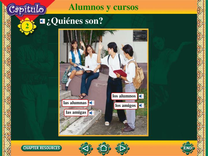 Alumnos y cursos