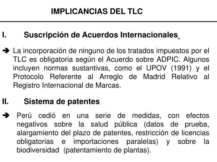 IMPLICANCIAS DEL TLC