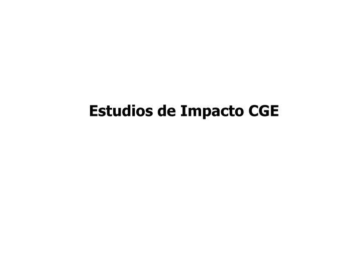 Estudios de Impacto CGE