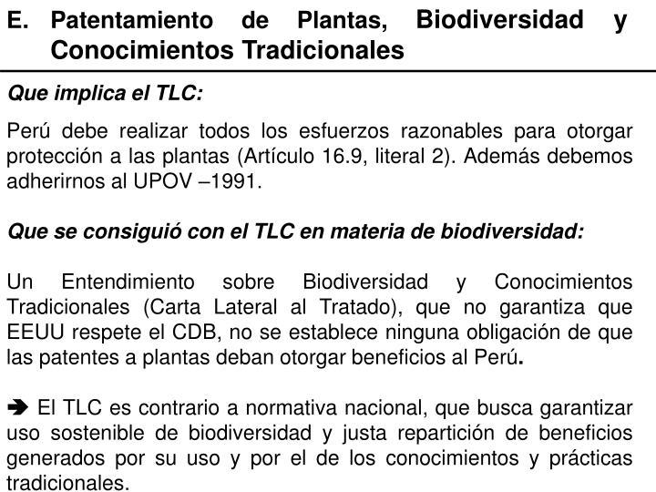 E.Patentamiento de Plantas,