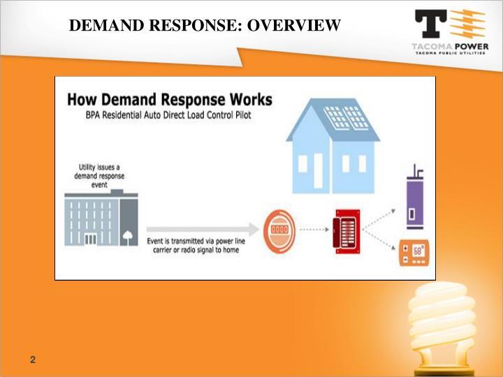 Demand Response: overview