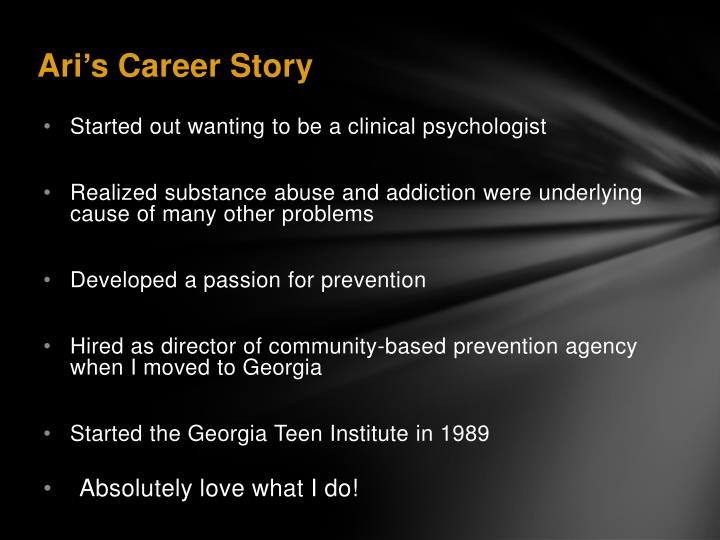 Started out wanting to be a clinical psychologist