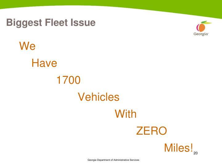 Biggest Fleet Issue