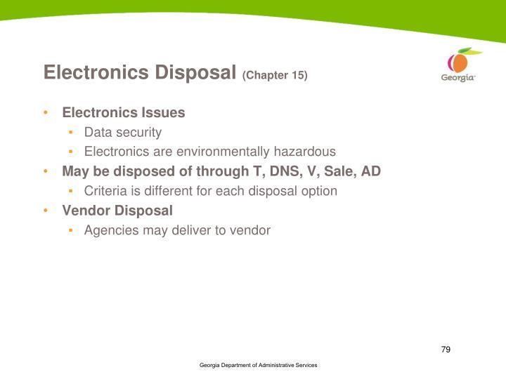 Electronics Disposal