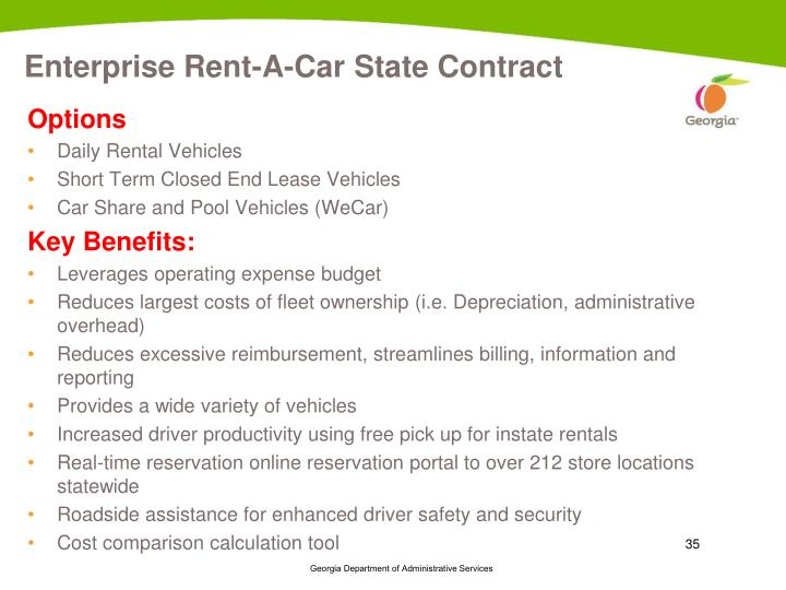 Enterprise Rent-A-Car State Contract