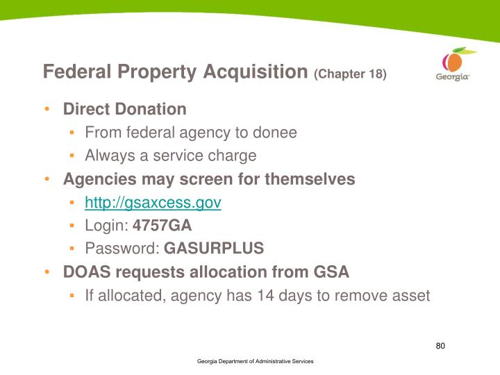 Federal Property Acquisition